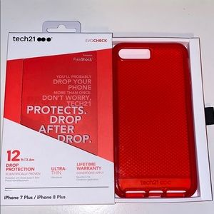 Iphone 7 plus red tech 21 case